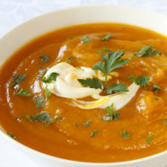 pumpkin, red lentil & coconut soup